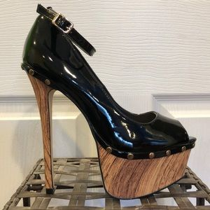 Patent leather looking heels!
